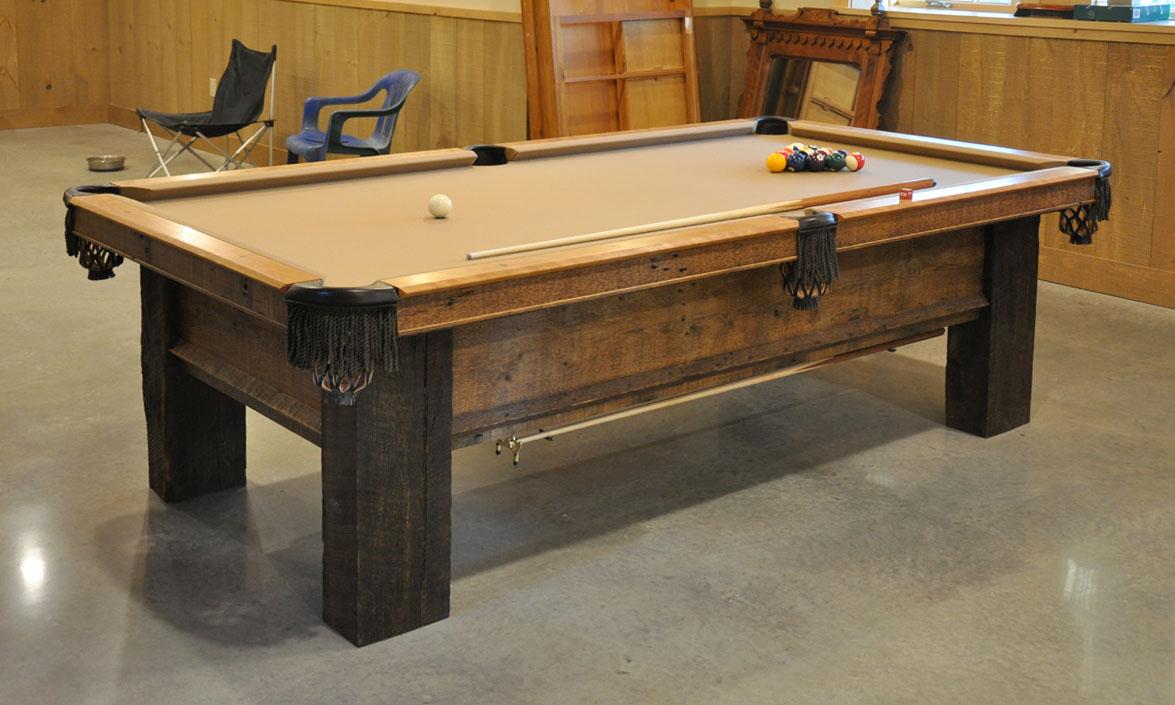 reclaimed lumber pool table2 - Ann Arbor Pool Table Movers